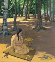 Tekakwitha Working on Crafts - 1666