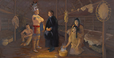 Tekakwitha's First Encounter with the Black Robes - 1667