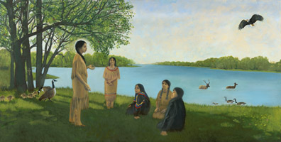 Kateri with the Community of Holy Women - 1679