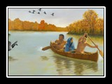 Kateri is Taken to the Sault Mission by Canoe - 1677