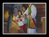 Kateri's First Holy Communion - 1677